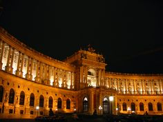 Imperial Palace at night, Vienna.