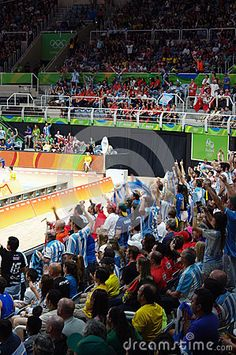 Argentinian volleyball fans at Maracanazinho arena during Rio2016 Summer Olympics Games in Rio de Janeiro. Picture taken Aug 11, 2016