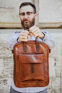 Купить Brick Brown Bag - кожаные сумки, купить кожаную сумку, сумки женские…