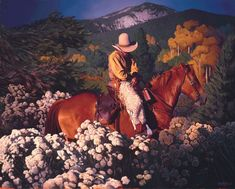 Read about Mark Maggiori's phenomenal transition from French rock star to award-winning western artist. Mark Maggiori, Magic Hour in Taos, oil, 24 x Western Photo, Western Art, Western Landscape, Magic Hour, Cowboys And Indians, Southwest Art, Lightning Strikes, Le Far West, Illustrations