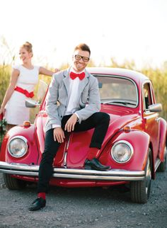Fun red VW shoot by Bell Studio  im gonna need to get my hands on a red car for this picture!