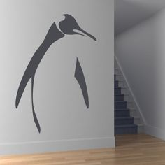 """Universe of goods - Buy """"Simple Design Home Decor Vinyl Removable Animal Penguin Outline Wall Decal For Living Room Decoration"""" for only USD. Penguin Life, Penguin Art, All About Penguins, Cute Penguins, Pinguin Tattoo, Wall Stickers Animals, Wall Decals, Wall Art, Penguin"""