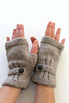 p/knit-fingerless-gloves-men-arm-warmers-dark-beige-hand-warmers-unisex-buttom-gloves-wool-winter - The world's most private search engine Wool Gloves, Fingerless Gloves Knitted, Crochet Gloves, Mens Gloves, Crochet Wrist Warmers, Knitting Patterns, Crochet Patterns, Diy Mode, Winter Accessories