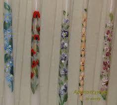 Σχετική εικόνα Christening, Floral Tie, Hand Painted, Candles, Personalized Items, Accessories, Decor, Decoration, Candy
