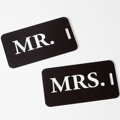 Mr & Mrs ID Luggage Tags