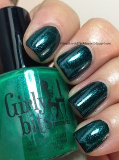 Girly Bits Emerald City Lights over Sinful Colors Black on Black