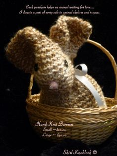 Snuggly  hand knit scented bunnies for restful by Briarrosewolf, $24.95