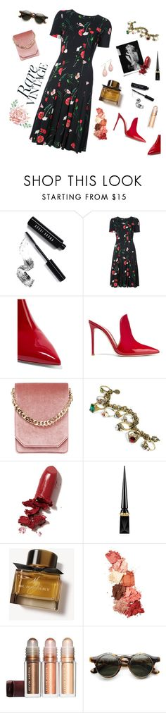 """And when she goes..."" by ravenclaw-phoenix on Polyvore featuring Bobbi Brown Cosmetics, Oscar de la Renta, Gianvito Rossi, Cafuné, Sweet Romance, LAQA & Co., Christian Louboutin, Burberry, Lime Crime and ZeroUV"