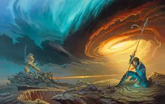 La portada de Michael Whelan para «Words of Radiance», la segunda parte de la macrosaga de Brandon Sanderson