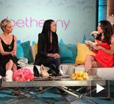 "Nael Coce on the ""Bethenny"" Talk Show.  Bethenny in Your Business: Convertible Heels high heel, convert heel"