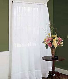 "Country Curtains Sheer 10"" Hem,  58"" Wide Panel-White"