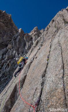 Voie Marylène, Pointe Lachenal Plus de photos sur le blog: http://www.escalade.pro/news/voie-marylene-pointe-lachenal/ #grimpisme