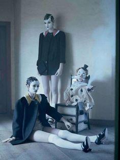 """Mechanical Dolls""   Models: Audrey Marnay & Kirsi Pyrhonen, Photographer: Tim Walker, Suffolk, UK, Vogue Italia, October 2011"