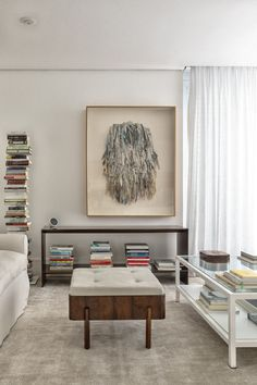 Pelusi Residence in Saõ Paulo by Carolina Maluhy | Yellowtrace Peaceful Home, Penthouse Apartment, Neutral Palette, Pent House, Contemporary Interior, White Paints, Second Floor, Vintage Furniture, Interior Inspiration