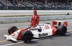 Emerson Fittipaldi with his Patrick Racing 1989 Indy car. At one time, Emerson Fittipaldi was the highest-paid athlete in the world, surpassing even Indy Car Racing, Sports Car Racing, Indy Cars, Racing Team, Race Car Sets, Indy 500 Winner, Chevy, Chevrolet, Band On The Run