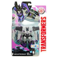 Autobots beware, because this Warrior Class Decepticon Megatronus figure converts in a heartbeat from robot mode to tank mode, and he's got a mighty blade that will make his foes think twice about taking him on! He converts in 7 steps to either mode, and kids can keep converting him back and forth to keep the adventure going. When the battle is over for the day, scan the figure's badge into the Transformers Robots in Disguise app (device not included) to unlock the characters for awesome…