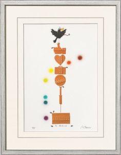 """""""Dr. Medicus"""" - Grafik in Mischtechnik von Michael Ferner: Original-Grafik in Mischtechnik, limitiert auf 99 Blatt und 9… #Malerei_Drucke"""