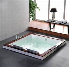 Square Built-in Jacuzzi Tub