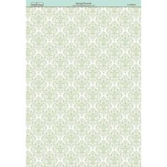 The Hobby House Spring Damask Paper - The Hobby House from The Hobby House UK