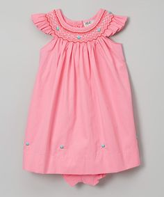 Love this Pink Smocked Dress & Bloomers - Infant & Toddler on #zulily…