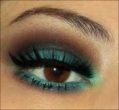 Teal and Brown shadow