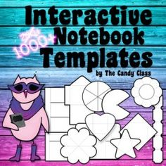 The Candy Class: The Interactive Notebook Template Types Interactive Student Notebooks, Science Notebooks, Math Notebooks, Reading Notebooks, Notebook Organization, Notebook Ideas, Classroom Organization, Secondary Teacher, Too Cool For School