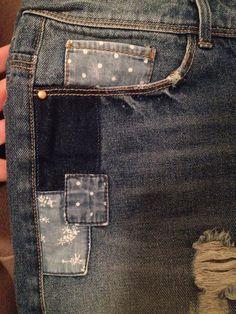 Old Jeans, Trouser Jeans, Denim Jeans, Rainbow Fashion, Denim Patchwork, Denim Outfit, Vintage Denim, Rock Style, Fast Fashion