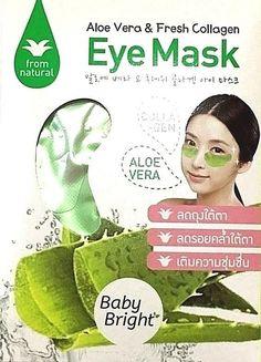 Aloe Vera & Collagen Eye Mask Baby Briight Patches Reduce Dark Circle Under Eye #KARMART
