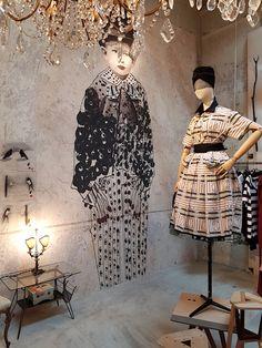 vosgesparis: Despite the Marras concept store Art Mural, Wall Murals, Wall Art, Interior And Exterior, Interior Design, Interior Shop, Photocollage, Shop Interiors, Art Deco