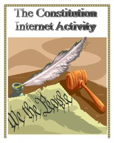 United States Constitution: Internet Activity from The Social Scientist on TeachersNotebook.com (7 pages)  - Teach about the U.S. Constitution with this internet activity