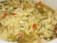 Homemade Chicken Noodle Soup- Cures what ails ya! :)