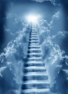 Stairway To Heaven Stairway To Heaven Tattoo, Stairs To Heaven, Image Jesus, Jesus Christ Images, Jesus Art, Angel Pictures, Jesus Pictures, Images Ciel, Art Heaven
