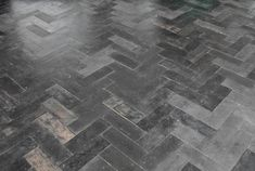 Recycled rubber - herringbone rubber floor JOOST-FLOOR via the design files One of many many many pics of Joost Bakker's Sydney Greenhouse!