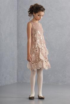 Glam Girl Biscotti Kate Mack New Good as Gold Sequin Petal Dress 4 | eBay
