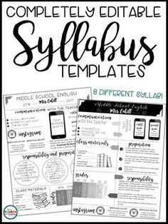 15 Awesome syllabus template for middle school images
