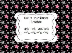 Fundations First Grade Unit 7 Glued Sounds Supplementals