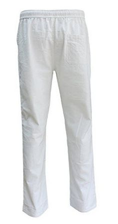 19f6ad8cd3 eYourlife2012 Men Summer Linen Flax Beach Long Straight Pant Drawstring  Pockets Trousers Pants Linen Beach Pants