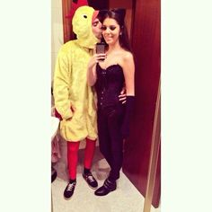 Disfraces de cat woman y pollito