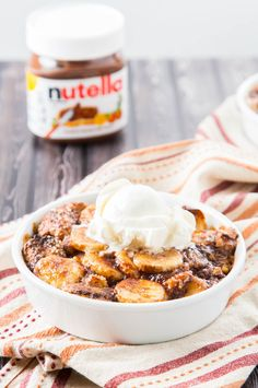 Banana Nutella Bread Pudding 1| The Missing Lokness