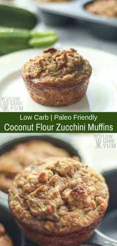 These coconut flour zucchini muffins are a great portable snack. Made with coconut flour, they are not only low carb but also gluten free.