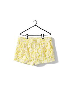 lace bermudas - Skirts and shorts - Baby girl (3-36 months) - Kids - ZARA