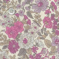 リバティプリント2014・SS・エミリー<16P> Fabric Patterns, Flower Patterns, Print Patterns, Liberty Fabric, Liberty Print, Retro Print, Canvas Ideas, Painting Canvas, Camellia