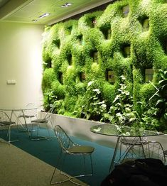 - Best ideas for decoration and makeup - Vertical Green Wall, Vertical Garden Design, Vertical Gardens, Green Facade, Green Wall Art, Green Walls, Moss Wall, Minimalist Garden, Green Architecture