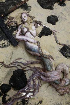 Mermaid film prop, sculpted by Hiroshi Katagiri.