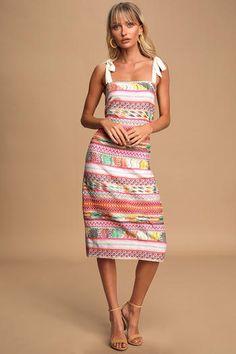 34++ Austyn navy blue floral print tie sleeve midi dress ideas