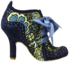 NEW IRREGULAR CHOICE *ABIGAILS PARTY* NAVY METALLIC SHOES/BOOTS-UK 3-4-5-6-7-8.5 Navy Shoes, Shoes Uk, Shoes Heels, High Heels, Pumps, Retro Shoes, Vintage Shoes, Vintage Dresses, Funny Shoes