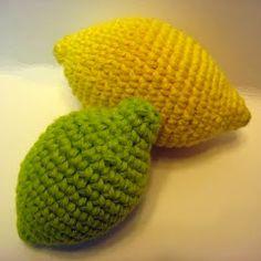 Patrones Amigurumi: Limones a crochet