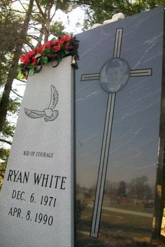 Ryan White gravesite *I remember this well~so sad*  little boy with AIDS..inspired many. Read the book as well.