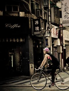 FIXED GEAR GIRL TAIWAN #cycling | Shared from http://hikebike.net