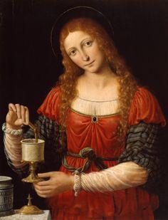 By Andrea Solario (north Italy), ca. 1524, Mary Magdalen. (Renaissance)